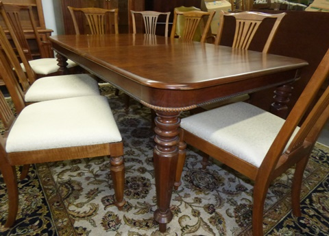 Pennsylvania House Old Havana Dining Table with 8 Chairs Marvas