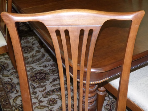 Pennsylvania House Old Havana Dining Table With 8 Chairs   Marvau0027s  PlaceMarvau0027s Place
