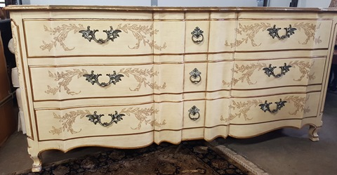 Vintage French John Widdicomb Dresser With Mirror Marva S Placemarva Place