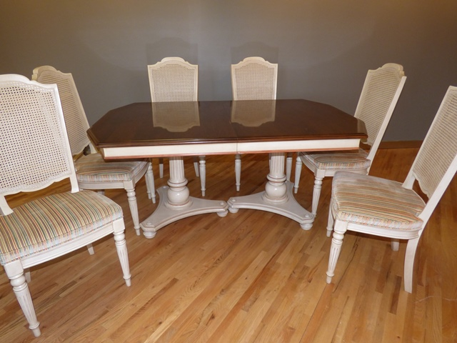 Ethan Allen Dining Table With 6 Chairs Marva S Placemarva S Place