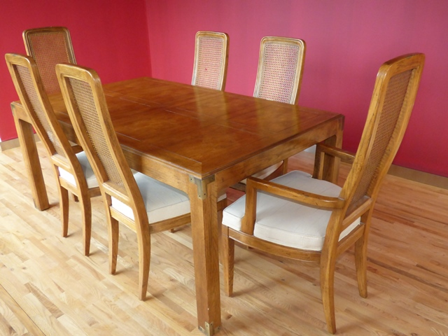 Beautiful Henredon Dining Table And 6 Chairs Marva S Placemarva Place