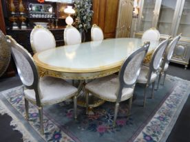 Luxury Classic Italian Colombo Giulio, Mobili d'Arte e Salotti Table and 8 Chairs