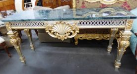 Luxury Classic Italian Colombo Giulio, Mobili d'Arte e Salotti Marbletop Console Table