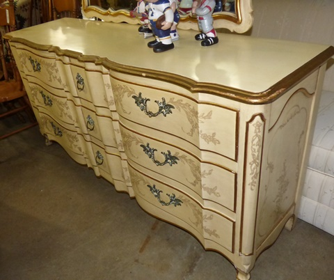 Vintage French John Widdicomb Dresser With Mirror   Marvau0027s PlaceMarvau0027s  Place