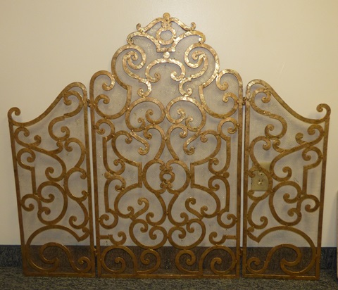 used gold fire screen