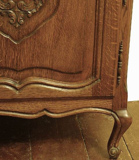 French Louis XV Country French Oak Breakfront Bookcase China Cabinet    Marvau0027s PlaceMarvau0027s Place