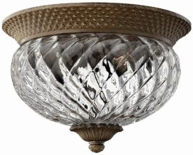 Hinkley 4881PZ Plantation Flushmount Ceiling Lighting. High-End Used Furniture & Consignment, New Designer Brands and Home Decor.