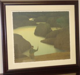 Russell Chatham Colorado Rivers Framed Lithograph 3.High end designer brand used furniture and home decor at significantly low prices. Fine Art Consignment.