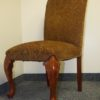 2 Elegant Designer Brown Dining Chairs. High end designer brand used furniture and home decor at significantly low prices. Used Furniture Consignment.
