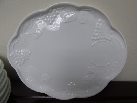 Vintage Indiana Colony Harvest Milk Glass Snack Plate (Set of 8)