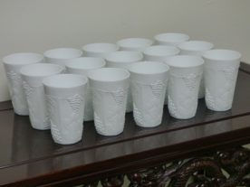Vintage Indiana Colony Milk Glass Tumblers