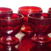Vintage Ruby Red Anchor Hocking Georgian Glasses (Set of 11)
