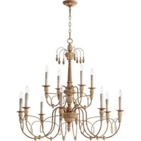 Quorum 6106-12-39 Salento Chandelier. High-End Used Furniture & Consignment, New Designer Brands and Home Decor. We offer high quality that is affordable.