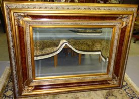 Large Ornate Burl Mirror