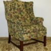 Floral Green Wingback Chair