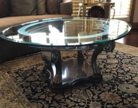 Glass Top Cocktail Table