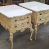 50's French Provincial End Table with Marble Top