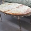 50's French Provincial Coffee Table with Marble Top