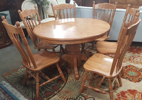 Amish Dining Table With 6 Chairs U0026 6 Leaves   Marvau0027s PlaceMarvau0027s Place