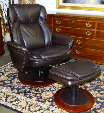 Leather Office Chair with Foot Rest