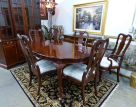 White Fine Dining Table and 6 Chairs