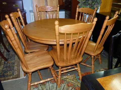 Amish Dining Table with 6 Chairs & 6 Leaves - Marva\'s PlaceMarva\'s ...