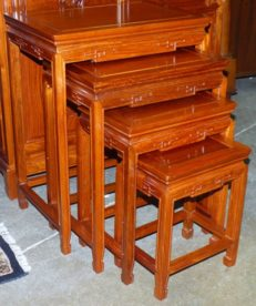 Montesano Rosewood Ming Nest of 4 Tables