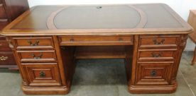 Hooker Executive Leather Top Desk