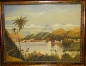 Framed Painting - Asian Scene