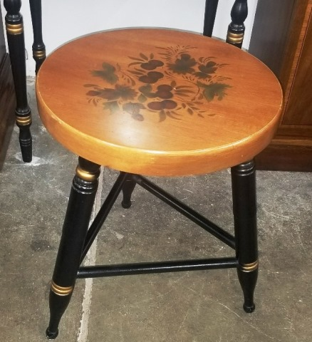 Small Vintage Hitchcock Stool