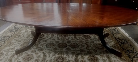 12′ Holly Hunt Walnut Dining Table
