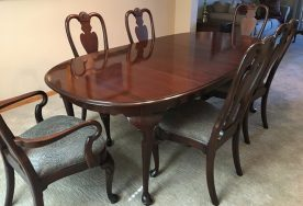 Ethan Allen Georgian Court Queen Anne Dining Table With 6 Chairs
